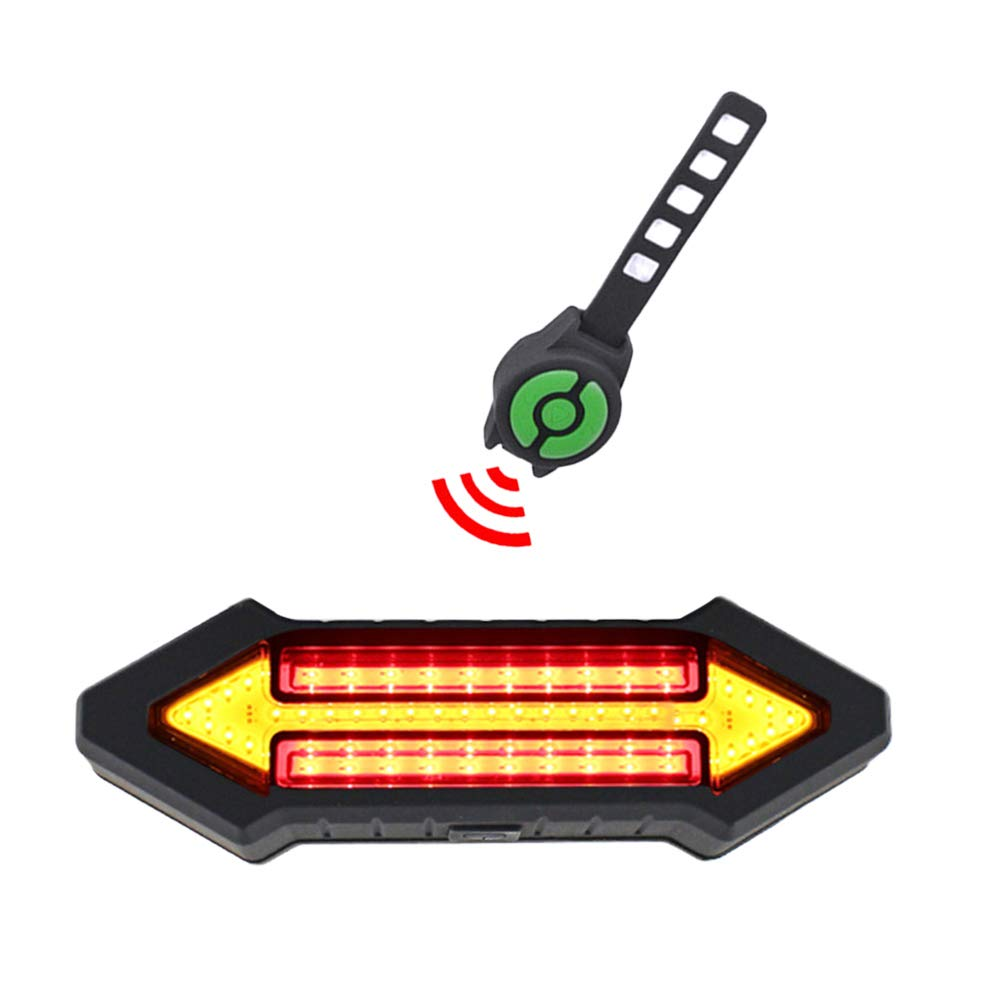 VORCOOL Luz Trasera de la Bicicleta luz LED de Control Remoto Inteligente Luz de se/ñal de Giro de la Bicicleta Luz Trasera de Advertencia Recargable de USB