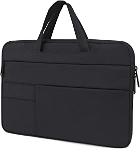 Lesige 13 inch Protective Laptop Sleeve Case, Slim Briefcase Handle Bag with 6 Extra Pockets for 13.3 inch MacBook Pro, MacBook Air, HP/Samsung/Asus/Dell/Acer/Chromebook/Notebook/Ultrabook, Black