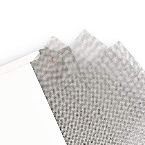 "TIMESETL 3pcs Stainless Steel Woven Wire 20 Mesh - 12""x8""(30x21cm) Metal Mesh Sheet 1mm Hole Great for Air Ventilation - A4"