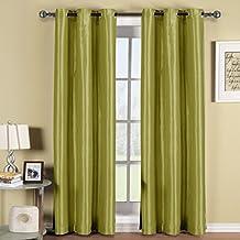 Elegant Comfort Elegance Linen Triple Layer Faux Silk-54-Inch Width X 84-Inch Length-Sage