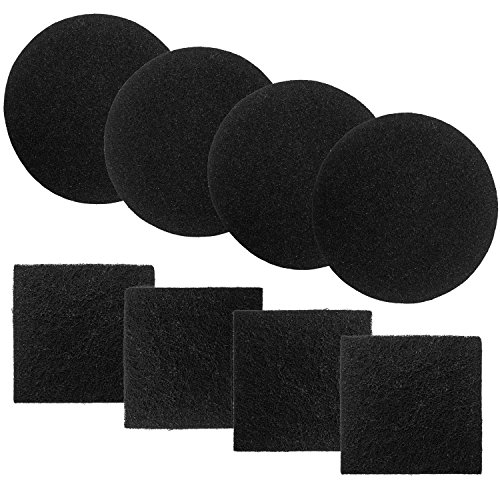Chef's Star Replacement Compost Bin Charcoal Filters 4 Pack