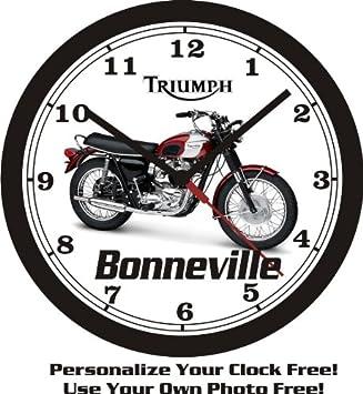 1970 TRIUMPH BONNEVILLE WALL CLOCK-FREE USA SHIP