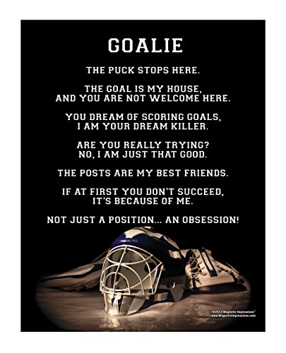 Posters and Prints by Magnetic Impressions Ice Hockey Goalie Helmet 13.75