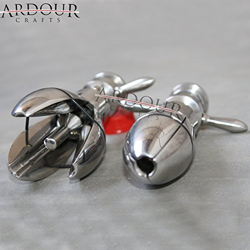 Stainless Steel Lock-able Anal Plug Bondage Butt Plug Anal Hook by Ardour Crafts (Image #3)