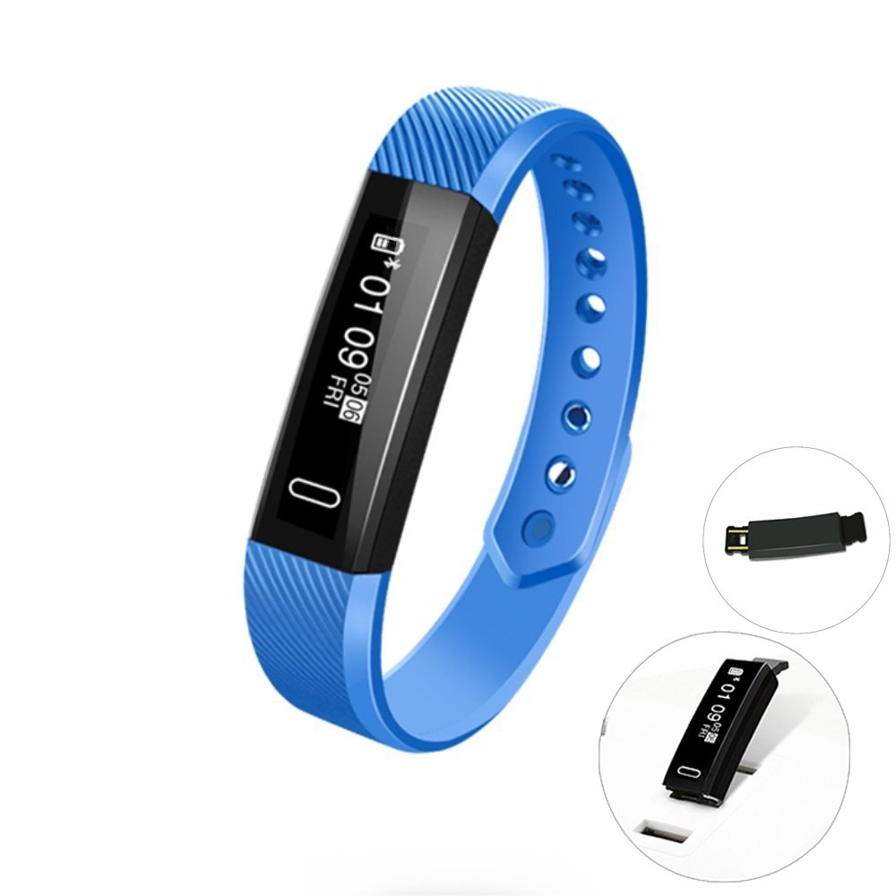 Fitness Tracker,Smart Bracelet Slim Touch Screen With Sleep Monitor/Step/Distance/Calorie Counter,Waterproof Bluetooth Wireless Pedometer Sports Gadgets Health Tracker For Kids Teens Men and Women