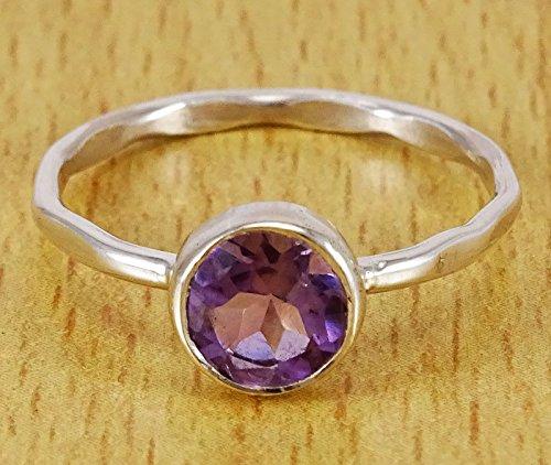Banithani 925 argent sterling gorgeo améthyste pierre fabriqué à la main bague bijoux