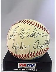 1970 #39;s Sparky Anderson Lefty Gomez Juan Marichal Ralph Kiner Signed Baseball PSA