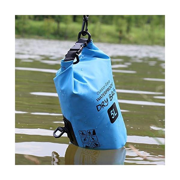 ZhaoCo Borsa Impermeabile, 5L/10L/20L/30L Dry Bag con Tracolla Regolabile Perfetto Per Kajak, Canoa, Vela, Pesca, Nuoto… 6 spesavip
