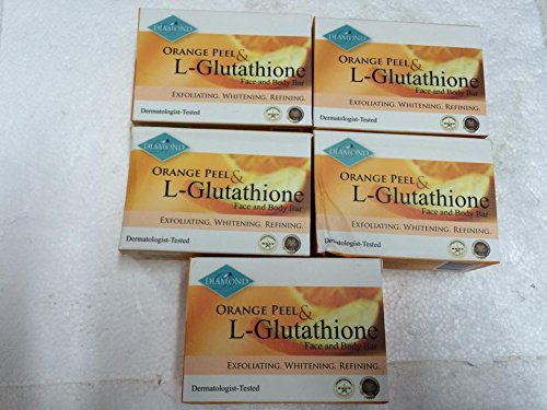 Diamond Orange Peel & L-Glutathione Face & Body Bar PACK OF 5