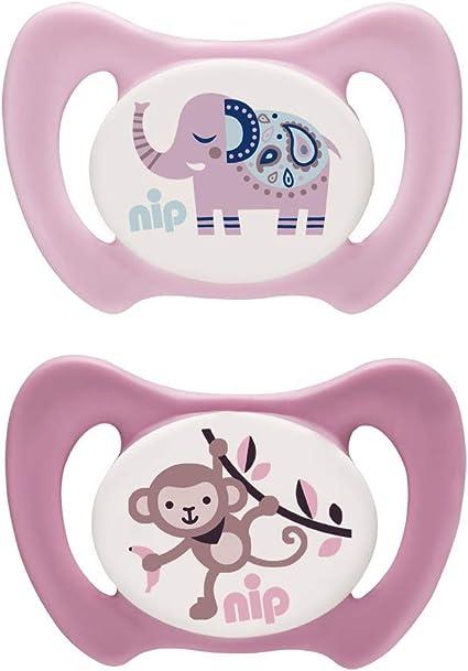 NIP Miss Denti Sucette dentaire distribu/ée en plusieurs tailles sans BPA Rose Taille 3