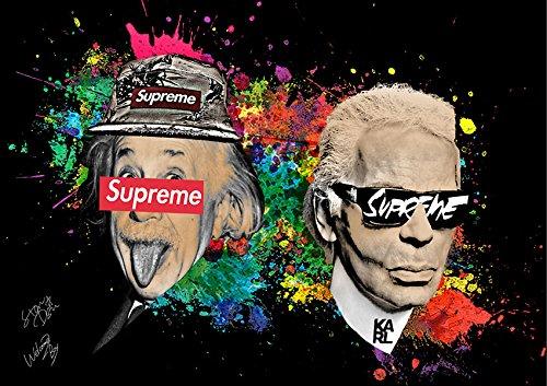 Karl Lagerfeld & Einstein ポップアートポスター Supreme インテリア 海外セレブ #wb03 STAR DESIGN A1サイズ(594×841mm) B07BYS37VX A1(594×841mm) A1(594×841mm)
