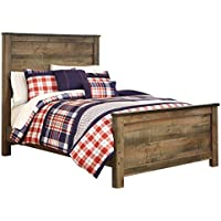 Ashley Furniture Signature Design - Trinell Youth Bedroom Set - Casual Childrens Full Panel Bedset - Brown