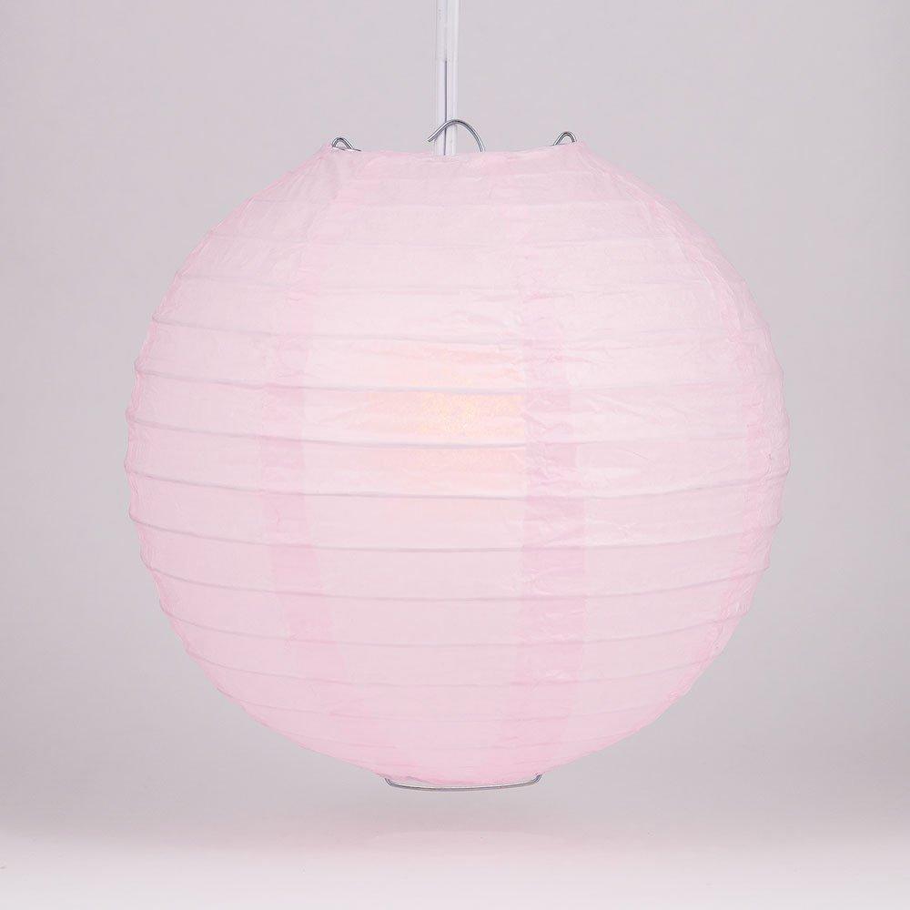 球体ペーパーランタン うね織り模様 ぶらさげるのに(電球は別売り) 24 Inch ピンク 24EVP-PK 1 B009YK3NLA 24 Inch|ピンク ピンク 24 Inch