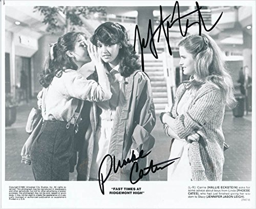 Fast Times At Ridgemont High Movie Cast - Printed Photograph Signed In Ink with co-signers