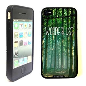 iPhone 4 4S Case ThinShell TPU Case Protective iPhone 4 4S Case Shawnex Hipster Quote Forest Woods Wanderlust