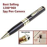 Electro-Weideworld Spionage Kamera Kugelschreiber mit versteckter HD 1280x960P Kamera für geheime Video & Audioaufzeichnungen