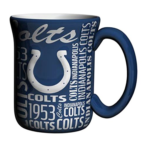 - NFL Indianapolis Colts Sculpted Spirit Mug, 17-ounce, Blue