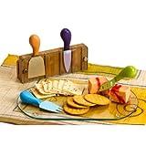 Picnic Plus Monaco Cheese Board Wood/Glass - Picnic Plus PSM-159