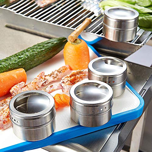 Xeminor 1PCS Stainless Steel Spice Jar Multi-function Spice Tin Seasoning Tank Kitchen Supplies for Salt Pepper Herbs Storage Silver by Xeminor (Image #7)