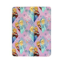 "Disney Frozen Lilac Diamond Plush 40"" x 50"" Travel Blanket with Ana & Elsa (Official Disney Product)"