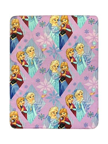"Disney Frozen Lilac Diamond Plush 40"" x 50"" Travel Blanket w"