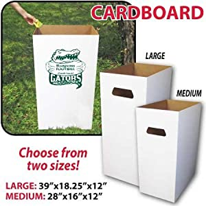 disposable trash cans. Reusable, Recyclable And Disposable Trash Cans, Sturdy Cardboard - (6) Medium Size SET OF 6 Cans E