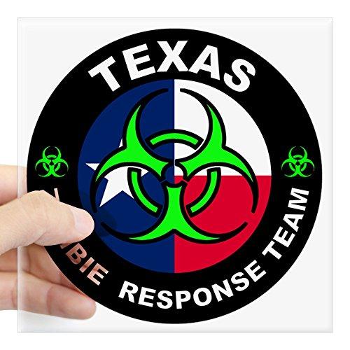 (CafePress Texas ZRT Green Square Bumper Sticker Car Decal, 3