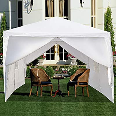 10? x 20' Pop Up Canopy Tent Instant Outdoor Canopy Easy Set-up Straight Leg Folding Shelter Commercial Instant Shelter Straight Leg with Hardware Kits (White): Kitchen & Dining