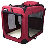 Soft Dog Bed - EliteField 3-Door Folding Soft Dog Crate, Indoor & Outdoor Pet Home, Multiple Sizes and Colors Available (36