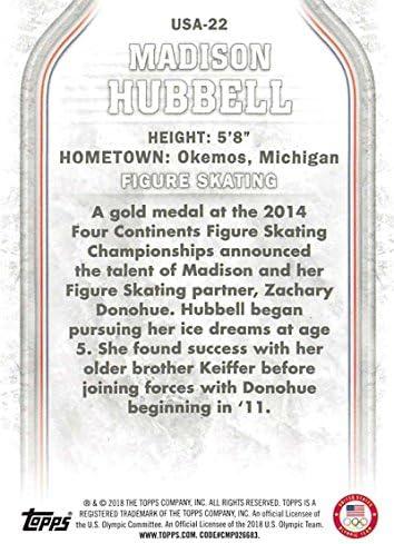 2018 Topps US Winter Olympics Base #USA-22 Madison Hubbell