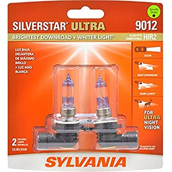 SYLVANIA - 9012 SilverStar Ultra - High Performance Halogen Headlight Bulb, High Beam, Low Beam and Fog Replacement Bulb, Brightest Downroad with Whiter ...