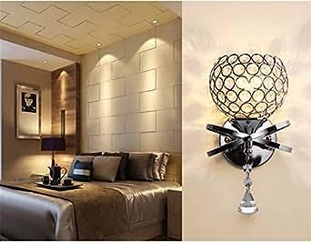 Los dormitorios cabecera luces LED de pared de cristal Saln Luces