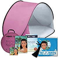 Thermalabs Pluto Pink Beach Tent: an Amazing Accessory for Your Kids Comfort! Deluxe Lightweight Toddlers Tent with Carrying Bag. Keep Your Baby Away from The Heat of The Sun, from Wind & Rain