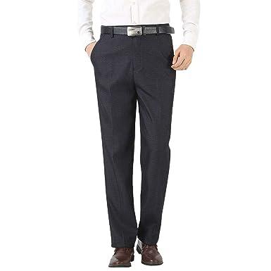 KINDOYO Pantalones de Traje para Hombres - Pantalones de Cintura ...