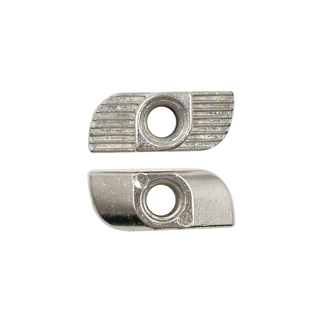 Yoohey 10PCS T Nuts 4040 Series M5 Sliding T Slot Nuts Nickel-Plated Carbon Steel Half Round Roll in T-Nut