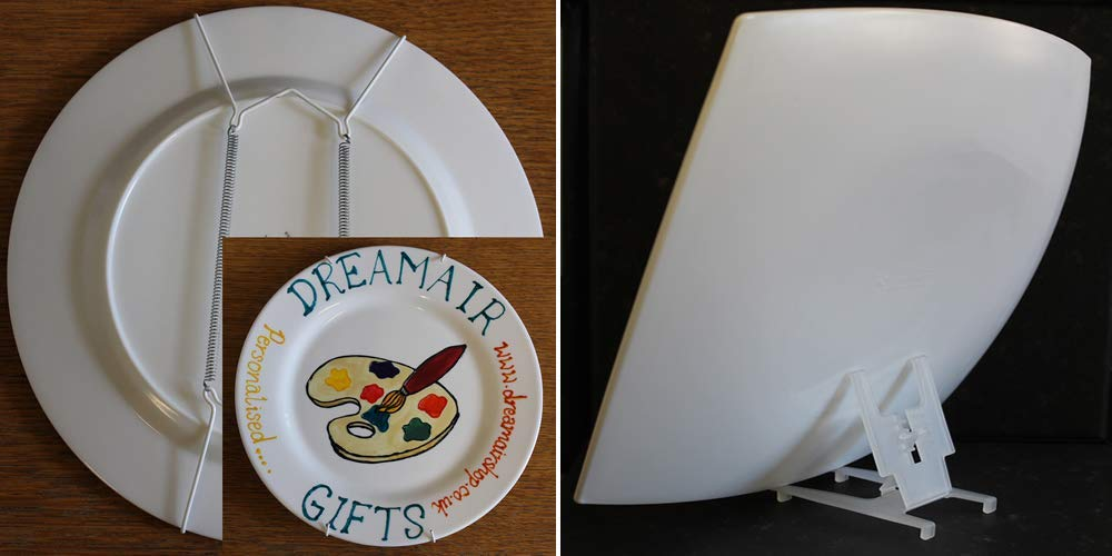 Dreamairshop 30th Wedding (Pearl) Anniversary Plate (Flower) (Rd)