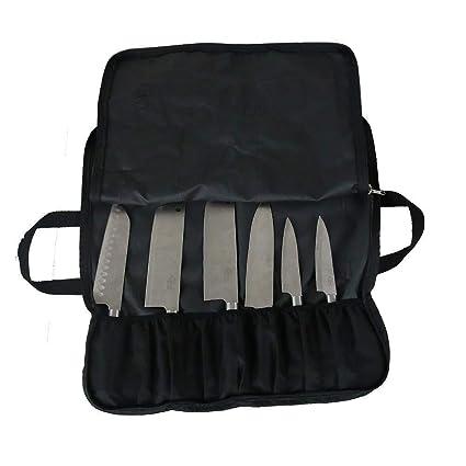 QEES - Bolso para Cuchillos de Chef (14 Compartimentos ...
