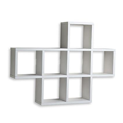 amazon com cubby wall shelf wall mounted accent shelves white rh amazon com  diy wall mounted cubby shelf