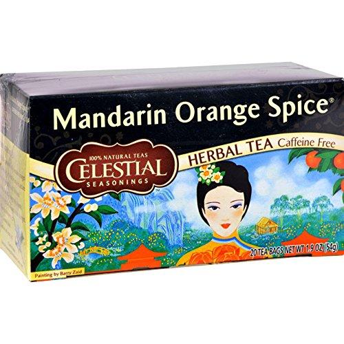 Celestial Seasonings Herbal Tea Caffeine Free Mandarin Orange Spice - 20 Tea Bags