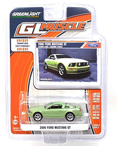 GREENLIGHT 1: 64scale GL MUSCLE 2006 FORD MUSTNAG GT (Green) series11 Green Light one sixty-four scale GL Muscle,  2006 Ford Mustang GT (Green) Series 11