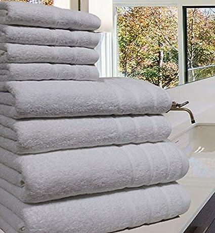 Toalla de lujo 100% de algodón egipcio, 8 piezas de 550 g/m² cada ...