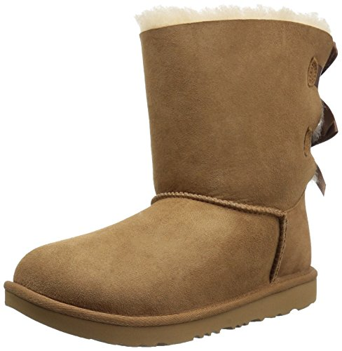 UGG Kids K Bailey Bow II Fashion Boot, Chestnut, 5 M US Big Kid (Bailey Bow Uggs For Girls)