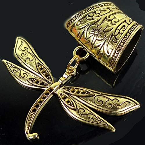 Scarf Pendant Antique Gold Pewter Dragonfly Flight Slide Pendant Jewelry Making Supplies Craft DIY Kit