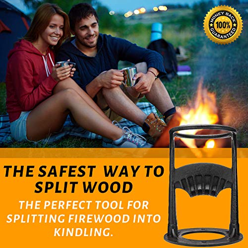 Firewood Kindling Splitter by Log Splitter | Kindling Wood Splitter - Get Prepared Safer - Manual Log Splitter | Made of Cast Iron | DIY Kindling Splitter