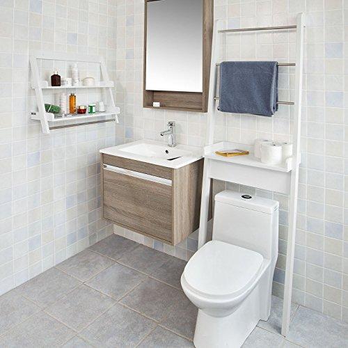 SoBuy® Mueble Para Baño WC, Estantería De Baño De MDF, Toalleros Repisa,  Blanco, FRG118 W, ES: Amazon.es: Hogar