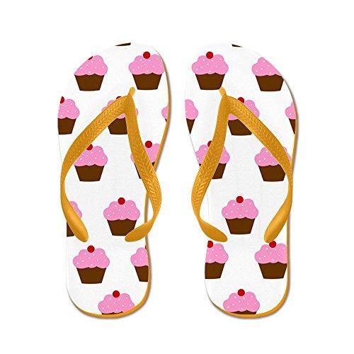 Cafepress Cupcake - Flip Flops, Roliga Rem Sandaler, Strand Sandaler Apelsin