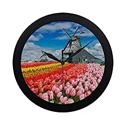ZXWXNLA Quiet Silent Sweep Non-Ticking Wall Clock Decorative Clock Quiet Sweep Movement for Youth Family for School Kitchen Bedroom Decorative 9.65 Inch