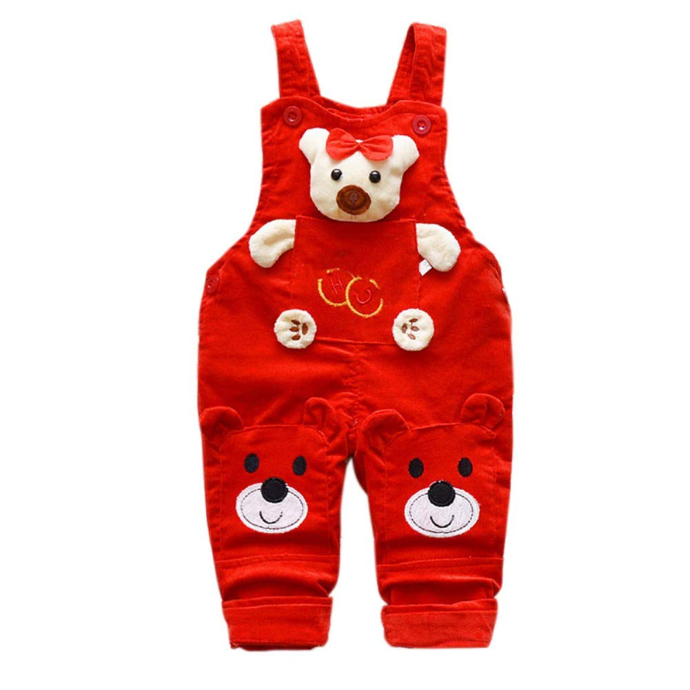 Shiningup Baby Dungarees Boy Girl Cartoon Bear Cute Bib Overall Jumpsuit Toddler Infant Pant