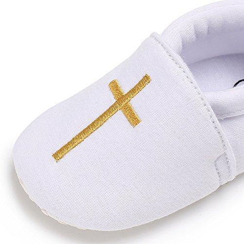 Baby Boy Girl Christening Baptism Shoes Infant Toddler Prewalker Soft Sole Sneakers