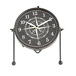 Creative Co-Op DA9256 Metal Convex Table Clock